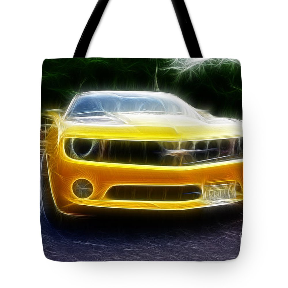 Performance Car Tote Bag featuring the photograph 2012 Chevrolet Camaro Rs by Paul Ward