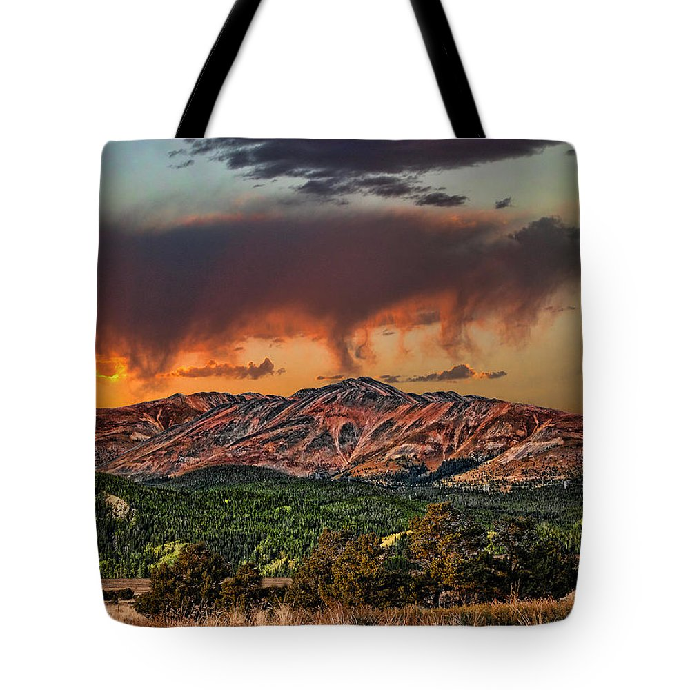 Clouds Tote Bag featuring the photograph 2281 by Peter Holme III