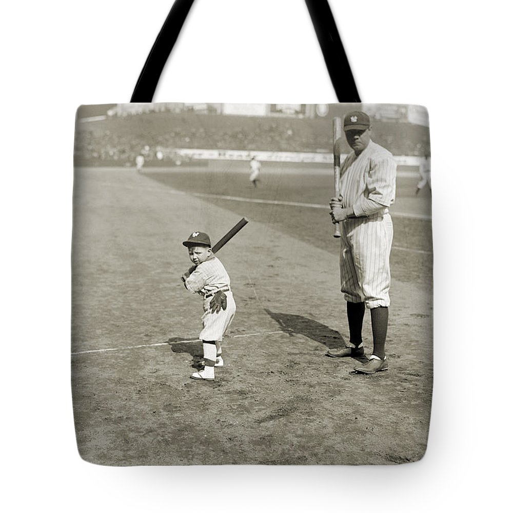 1922 Tote Bag featuring the photograph George H. Ruth (1895-1948) by Granger