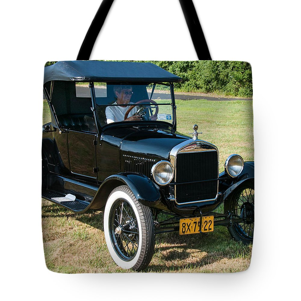 1927 Ford Tote Bag featuring the photograph 27 Ford by Guy Whiteley