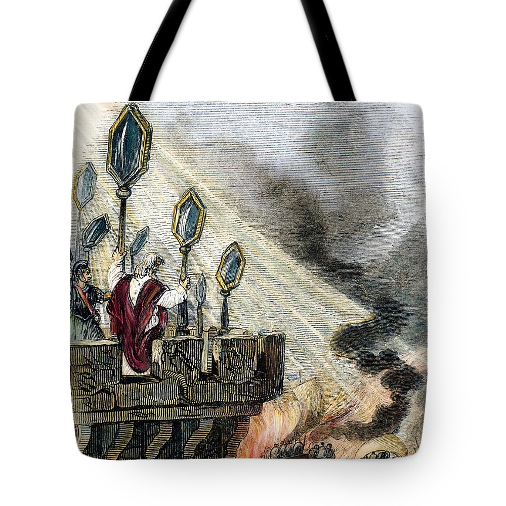 3rd Century B.c Tote Bag featuring the photograph Archimedes (287?-212 B.c.) by Granger
