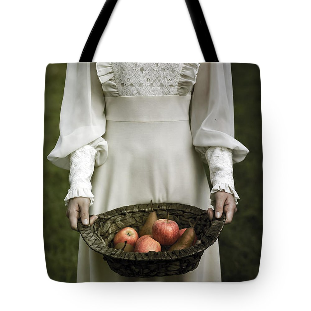 Woman Tote Bag featuring the photograph Basket With Fruits by Joana Kruse