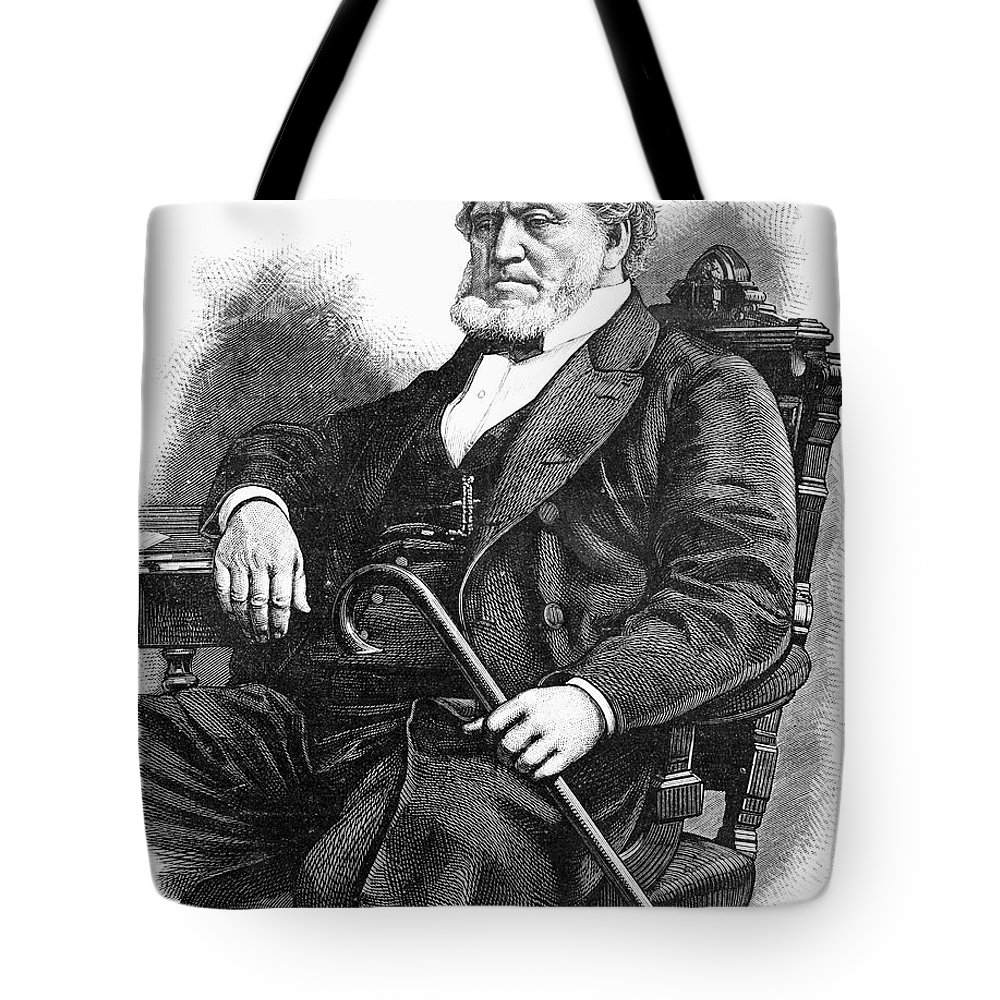 1877 Tote Bag featuring the photograph Brigham Young (1801-1877) by Granger
