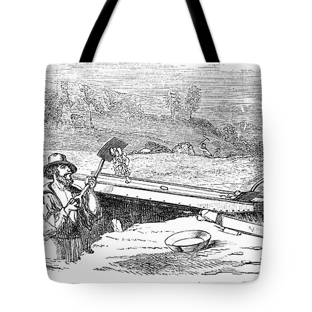 1852 Tote Bag featuring the photograph California Gold Rush by Granger