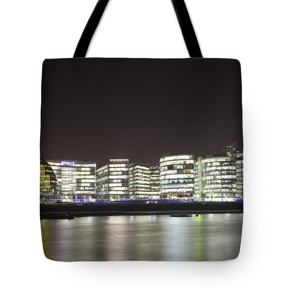 Tower Bridge Tote Bag featuring the photograph City Hall And Hms Belfast by David French