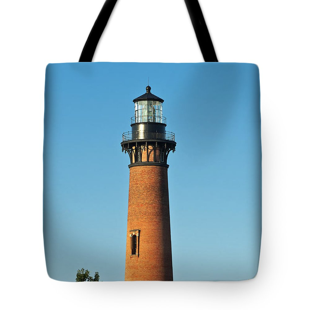 Corolla Tote Bag featuring the photograph Currituck Beach Lighthouse by John Greim