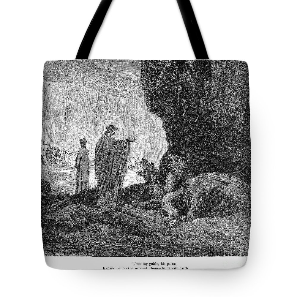 14th Century Tote Bag featuring the photograph Dante: Inferno by Granger