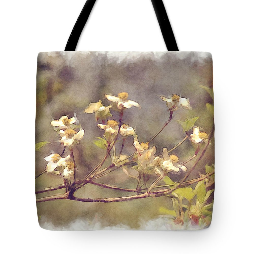 Flowers Tote Bag featuring the photograph Dogwood by Donna Bentley