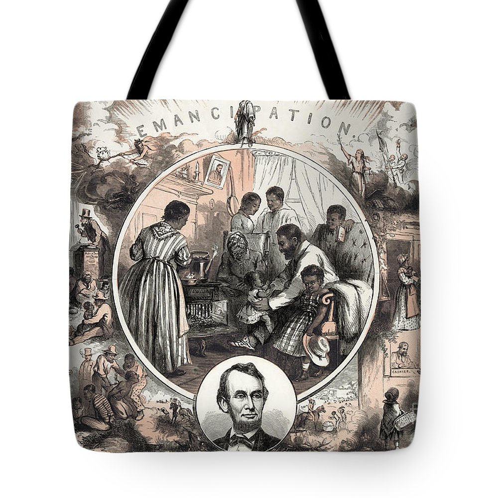 1863 Tote Bag featuring the photograph Emancipation Proclamation by Granger