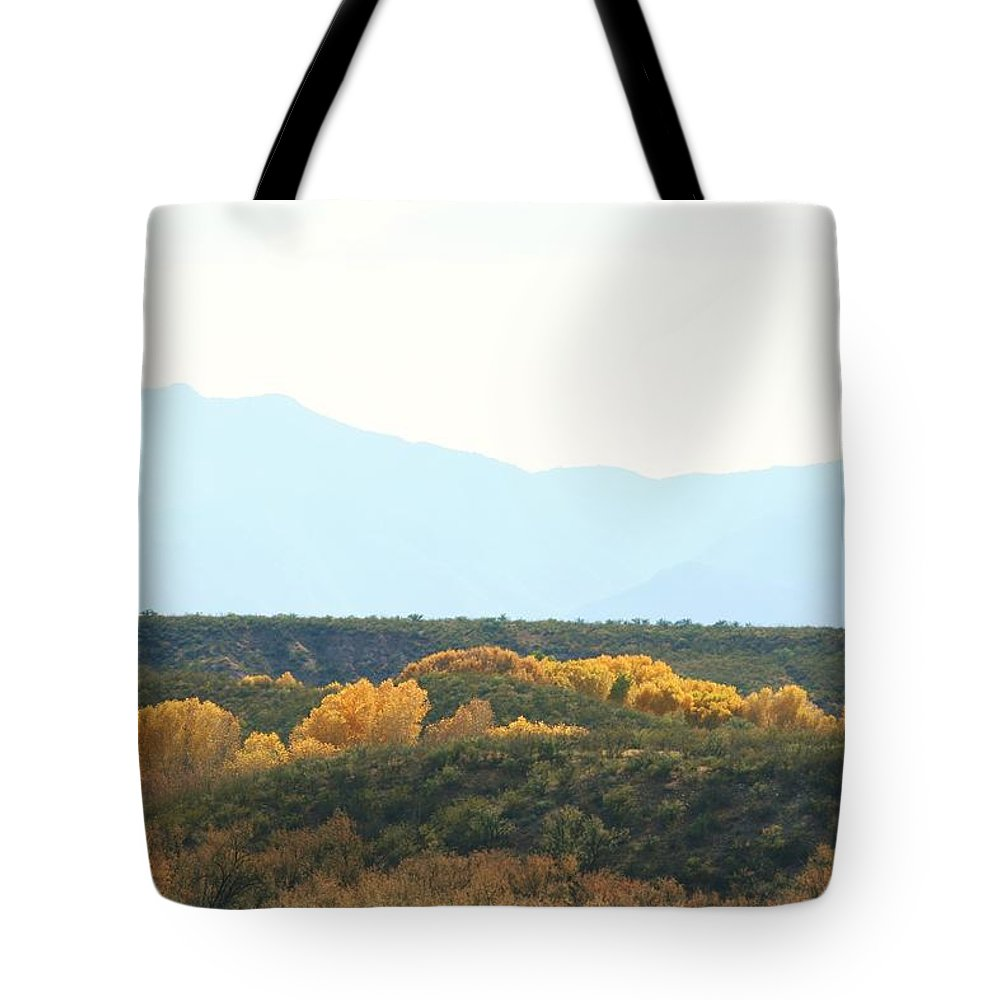 River Tote Bag featuring the photograph Fall Along The San Pedro 2011 by Michael C Crane