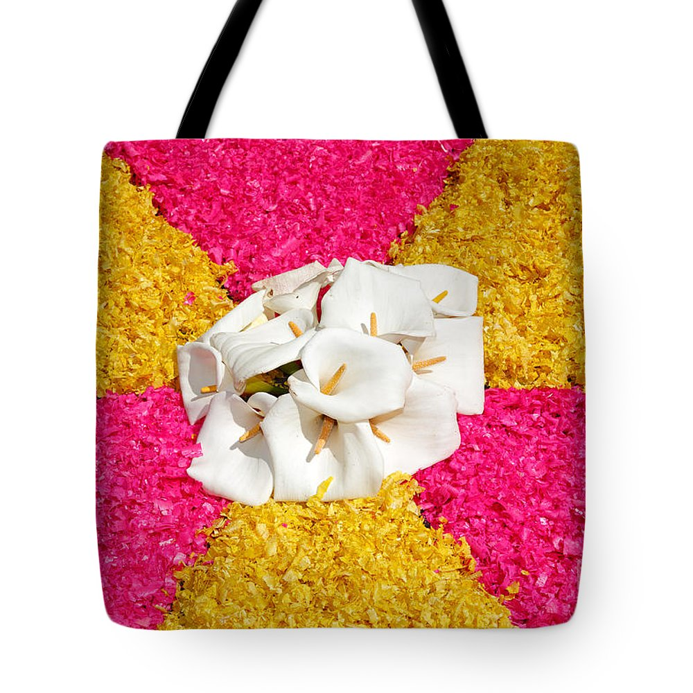 Colors Tote Bag featuring the photograph Flower Carpet by Gaspar Avila