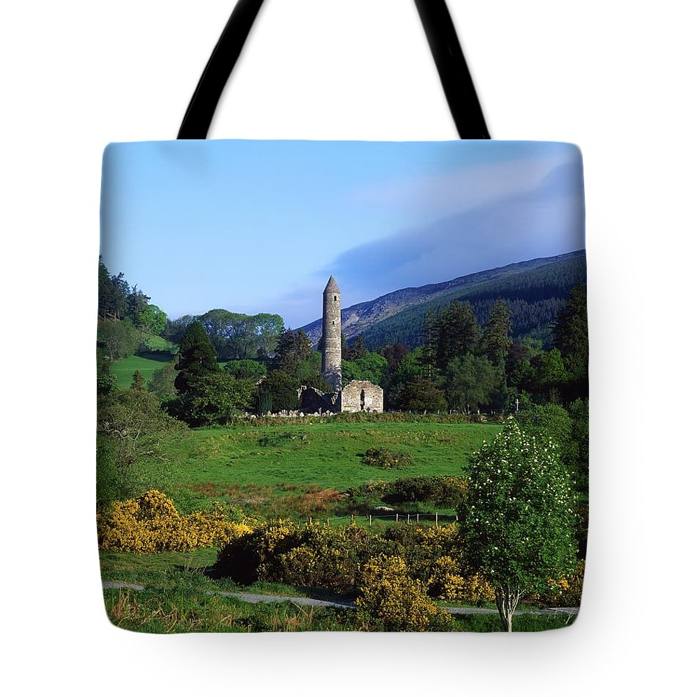 Architectural Heritage Tote Bag featuring the photograph Glendalough, Co Wicklow, Ireland by The Irish Image Collection