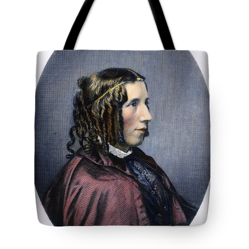 1853 Tote Bag featuring the photograph Harriet Beecher Stowe by Granger