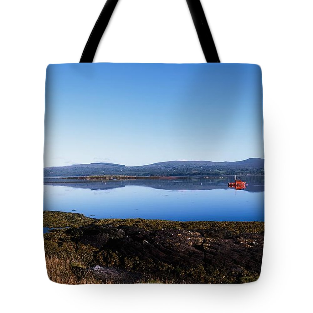 Blue Sky Tote Bag featuring the photograph Kenmare Bay, Dunkerron Islands, Co by The Irish Image Collection