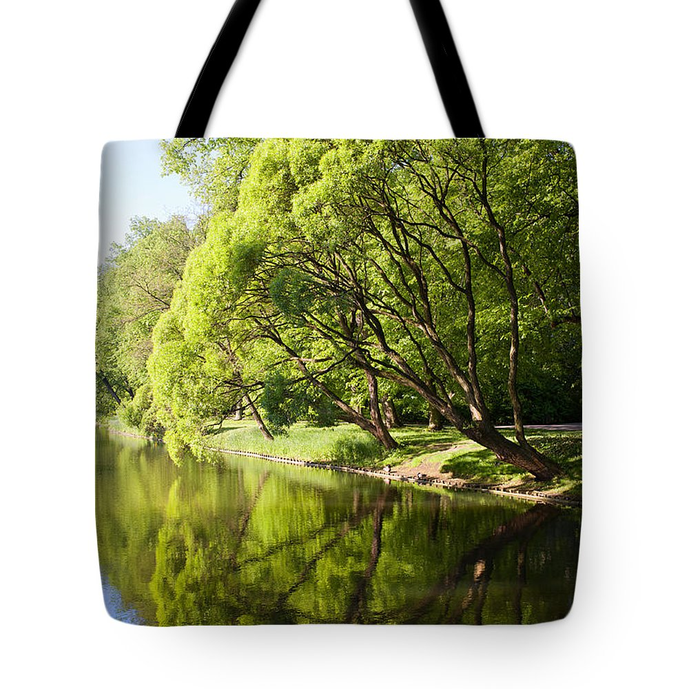 Foliage Tote Bag featuring the photograph Lazienki Park In Warsaw by Artur Bogacki