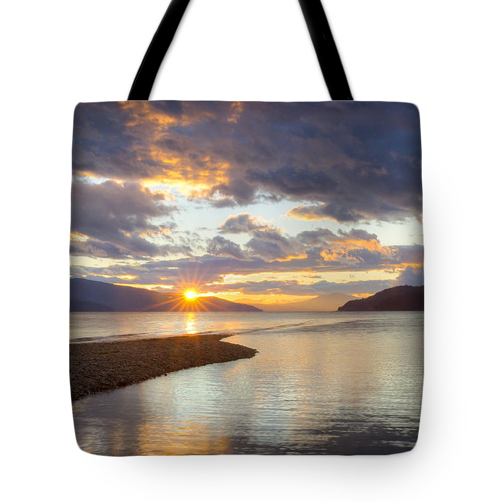 Cabinet Mountains Tote Bag featuring the photograph Pend Oreille Sunset by Idaho Scenic Images Linda Lantzy