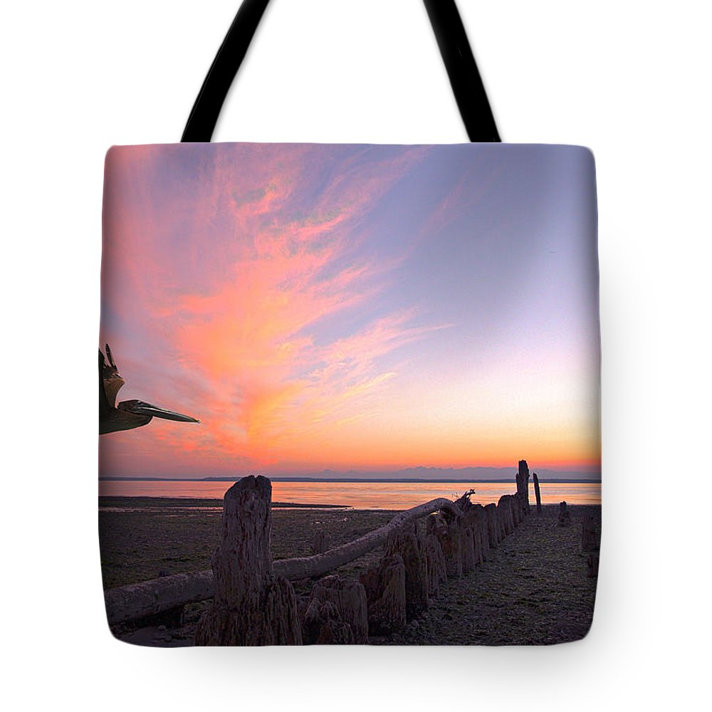 Landscape Tote Bag featuring the photograph Sunset by Paul Fell