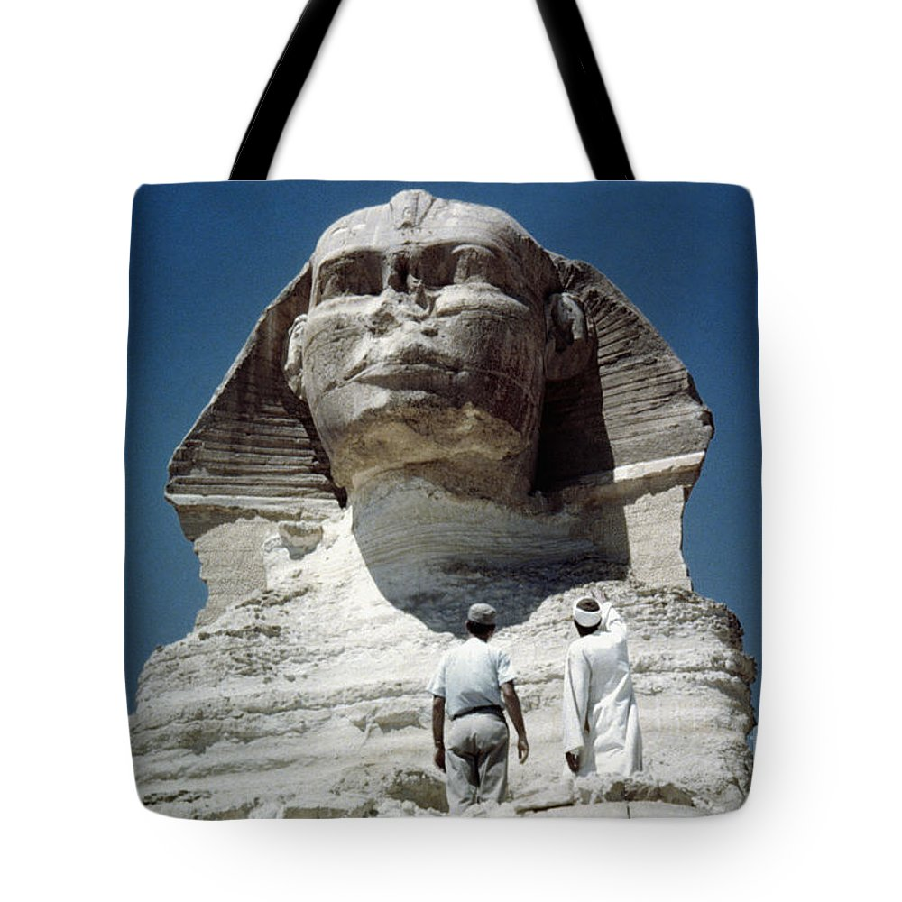 4th Dynasty Tote Bag featuring the photograph The Great Sphinx by Granger