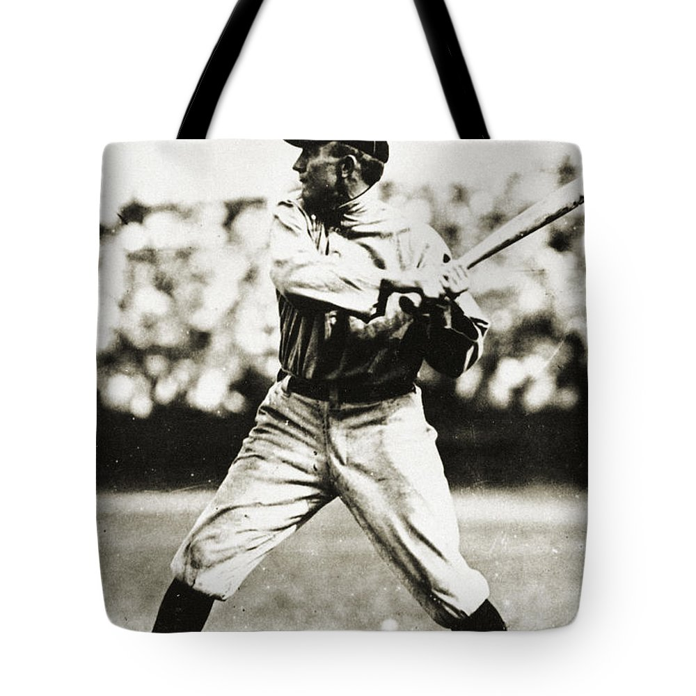 20th Century Tote Bag featuring the photograph Ty Cobb (1886-1961) by Granger