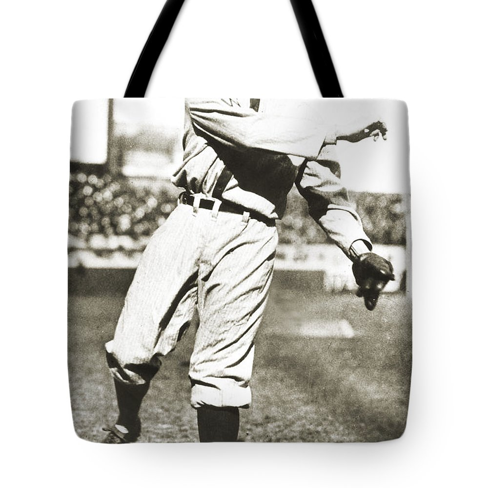 1925 Tote Bag featuring the photograph Walter Johnson (1887-1946) by Granger