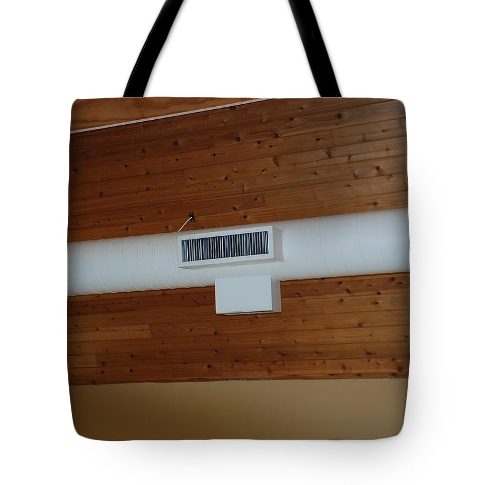 Brown Yellow Tote Bag featuring the photograph White Pipe by Rob Hans
