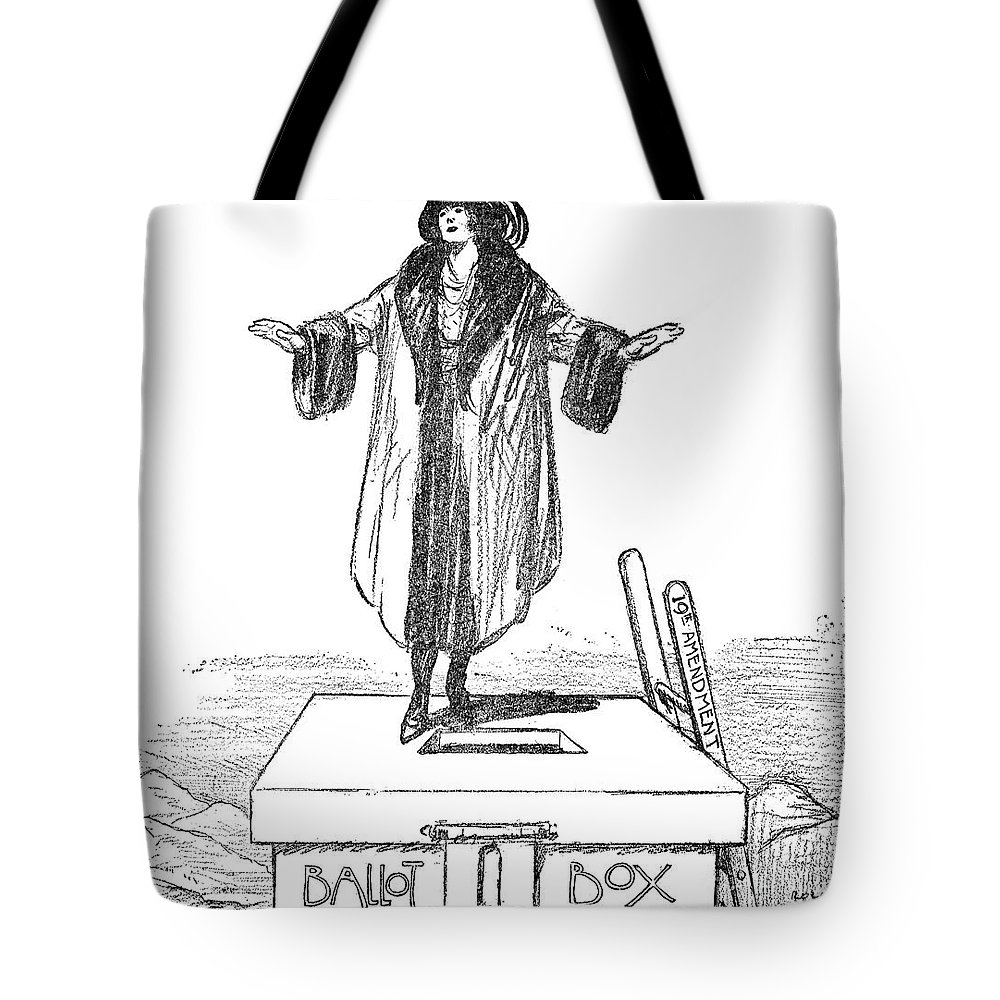 1920 Tote Bag featuring the photograph Womens Rights Cartoon by Granger