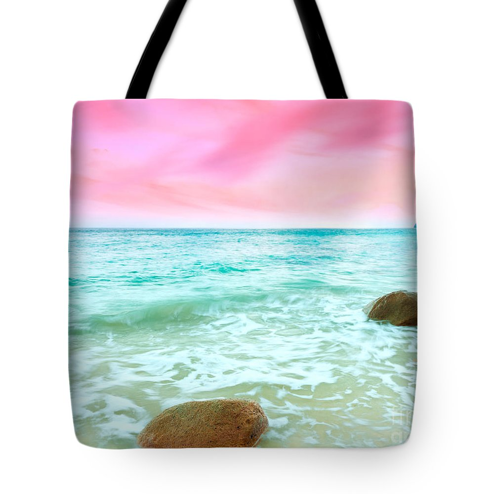 Sunrise Tote Bag featuring the photograph Sunrise by MotHaiBaPhoto Prints