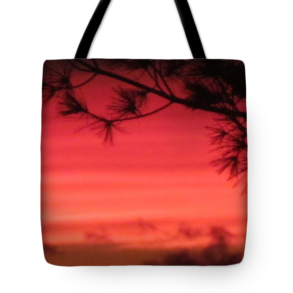 Sun Tote Bag featuring the photograph 31oct2012 Sunset Nine by Tina M Wenger