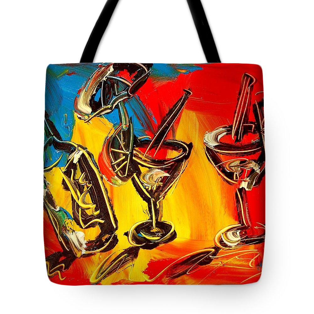 Nature Framed Prints Tote Bag featuring the painting Wine by Mark Kazav