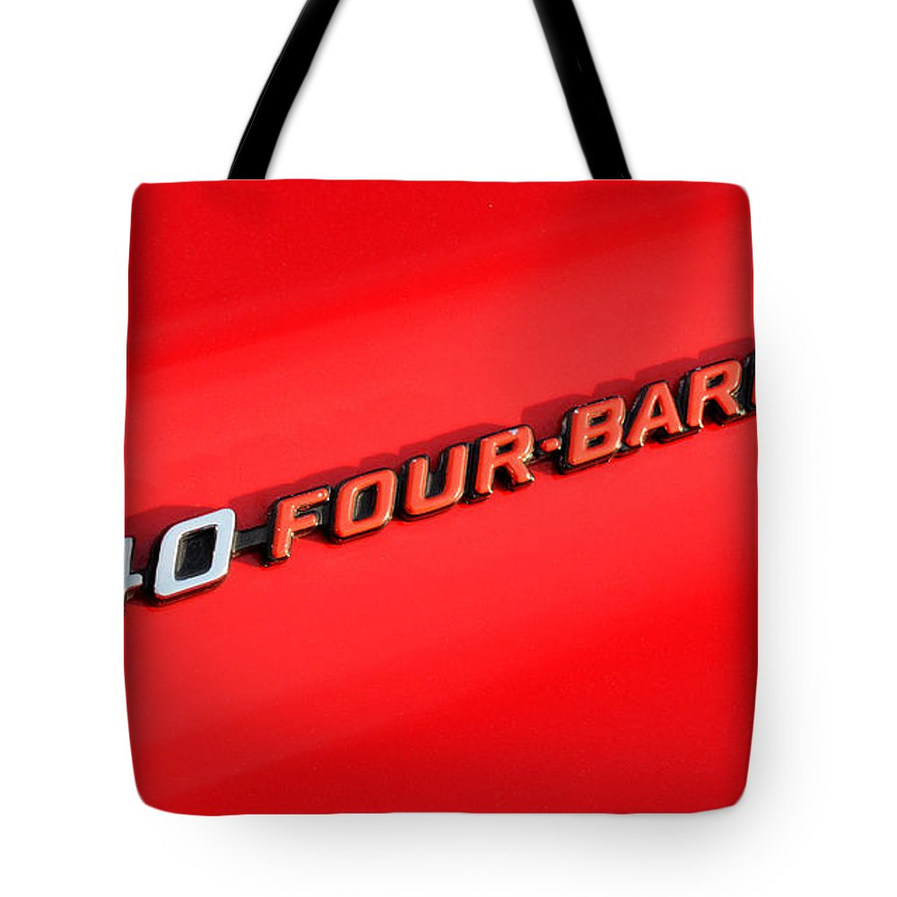 340 Four Barrel Tote Bag featuring the photograph 340 Four Barrel by Vivian Christopher
