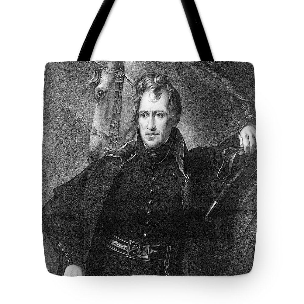 1820 Tote Bag featuring the photograph Andrew Jackson (1767-1845) by Granger