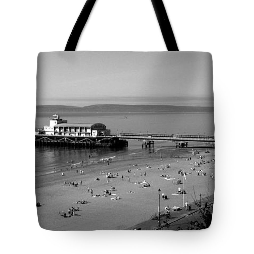 Bournemouth Tote Bag featuring the photograph Bournemouth Pier And Beach by Chris Day