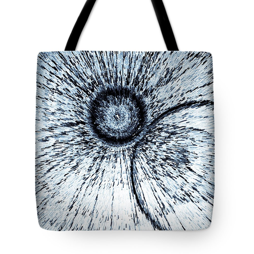 Circle Tote Bag featuring the digital art Circle 3d Art by David Pyatt
