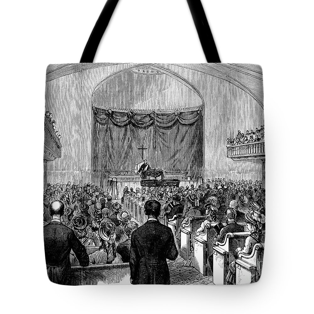 1877 Tote Bag featuring the photograph Cornelius Vanderbilt by Granger