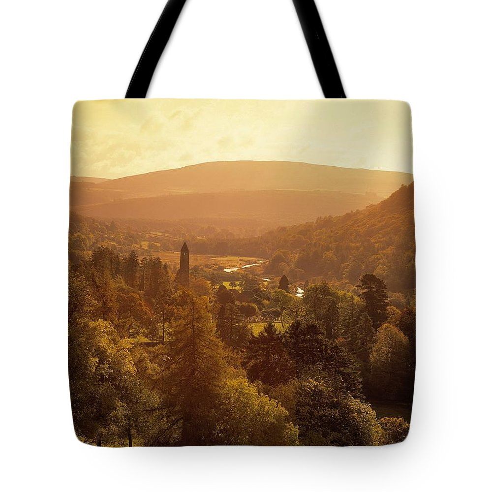 Abbeys Tote Bag featuring the photograph Glendalough, Co Wicklow, Ireland by The Irish Image Collection