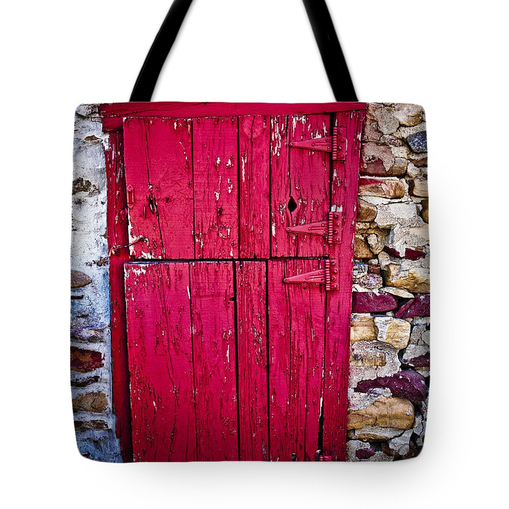 Cherryvale Tote Bag featuring the photograph 4 Hinges by Marilyn Hunt