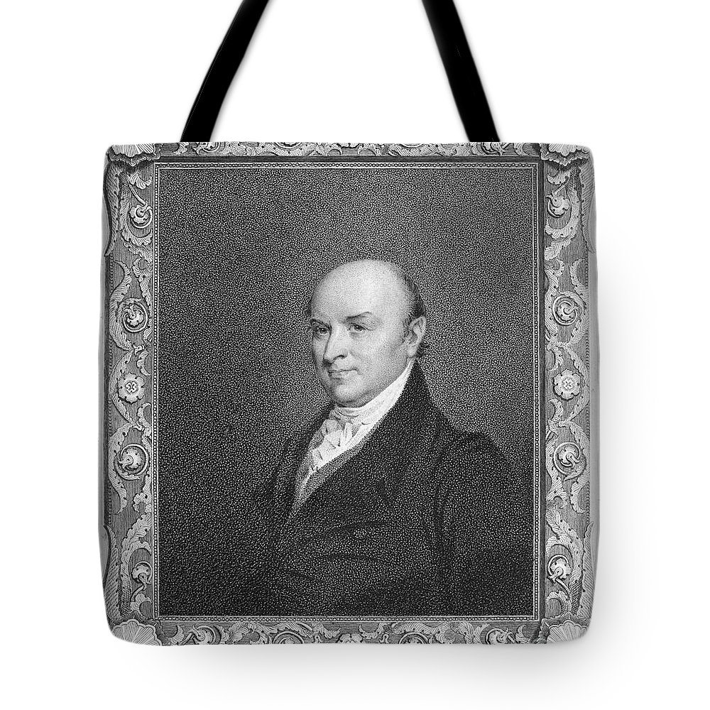 19th Century Tote Bag featuring the photograph John Quincy Adams by Granger