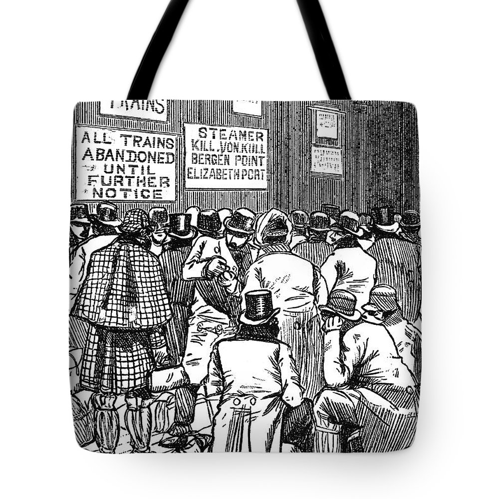 1888 Tote Bag featuring the photograph New York: Blizzard Of 1888 by Granger
