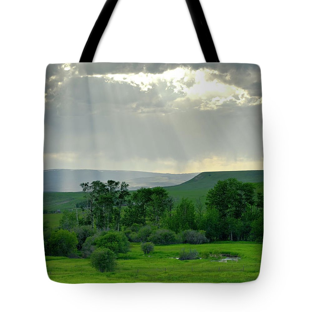 Americas Tote Bag featuring the photograph Rain Sun Rays by Roderick Bley