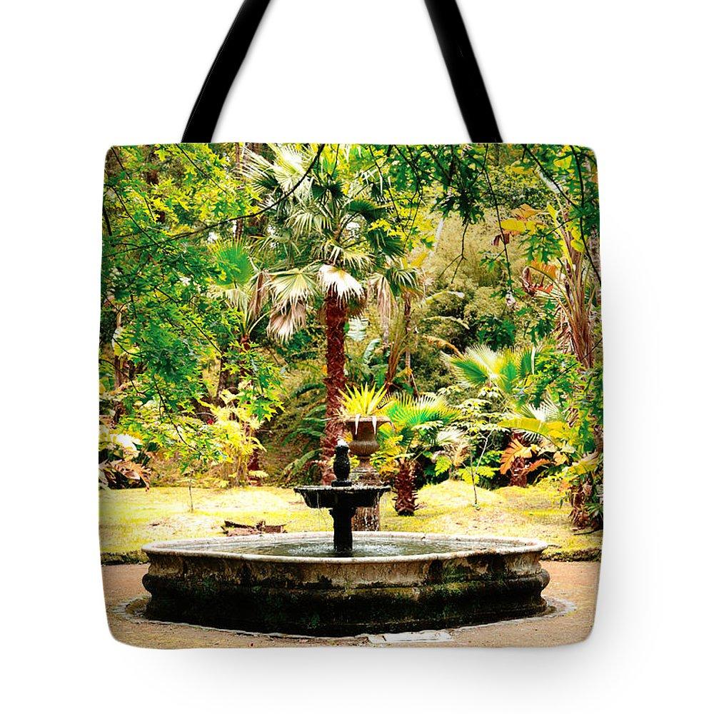 Terra Nostra Park Tote Bag featuring the photograph Terra Nostra Park by Gaspar Avila