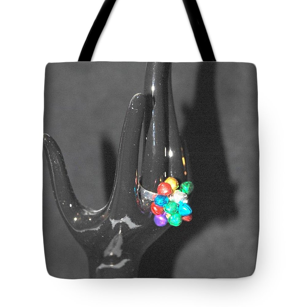 Hand Tote Bag featuring the photograph The Black Hand by Rob Hans