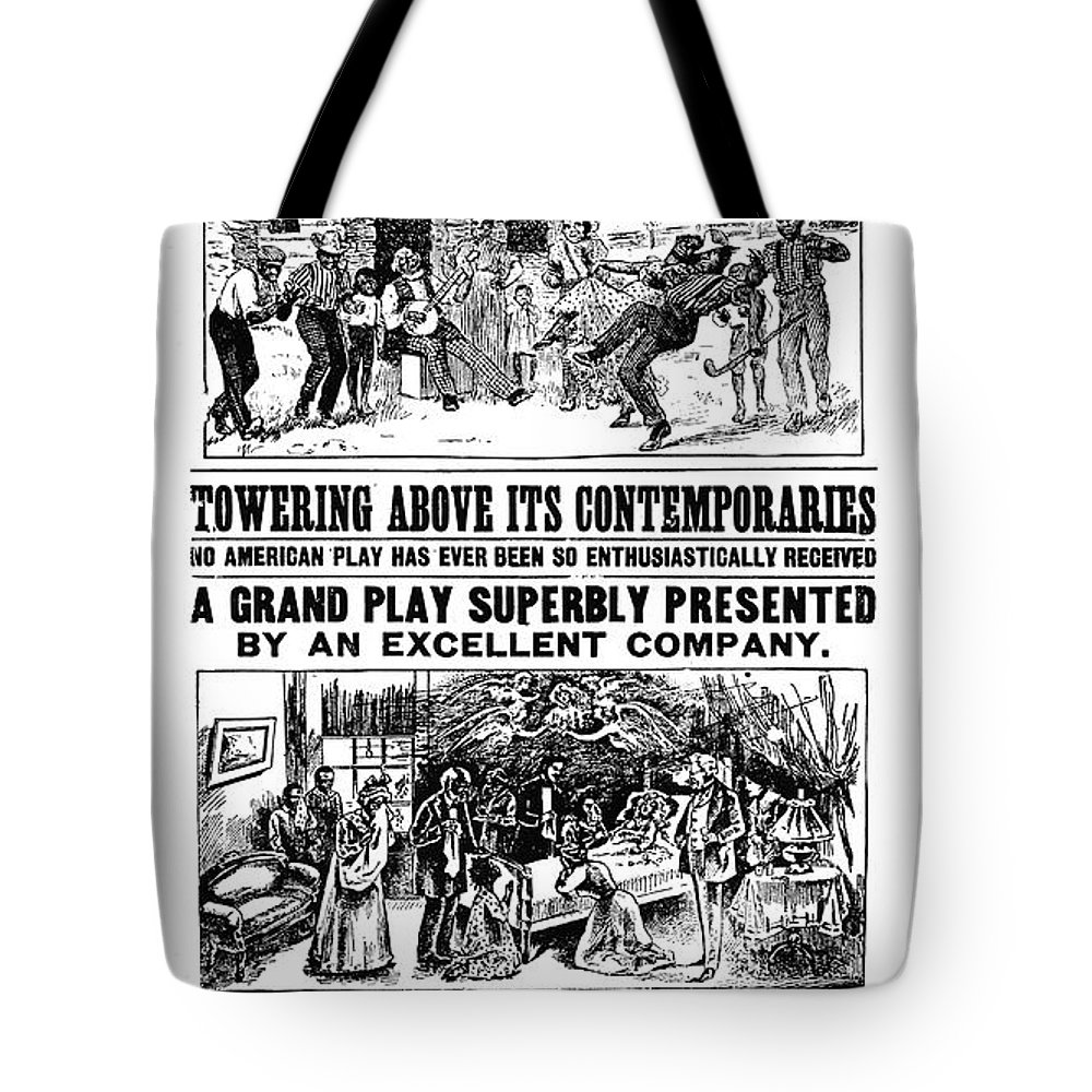 19th Century Tote Bag featuring the photograph Uncle Toms Cabin by Granger