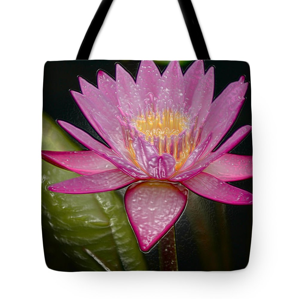 Digital Designs Tote Bag featuring the photograph Water Lily by Mark Gilman