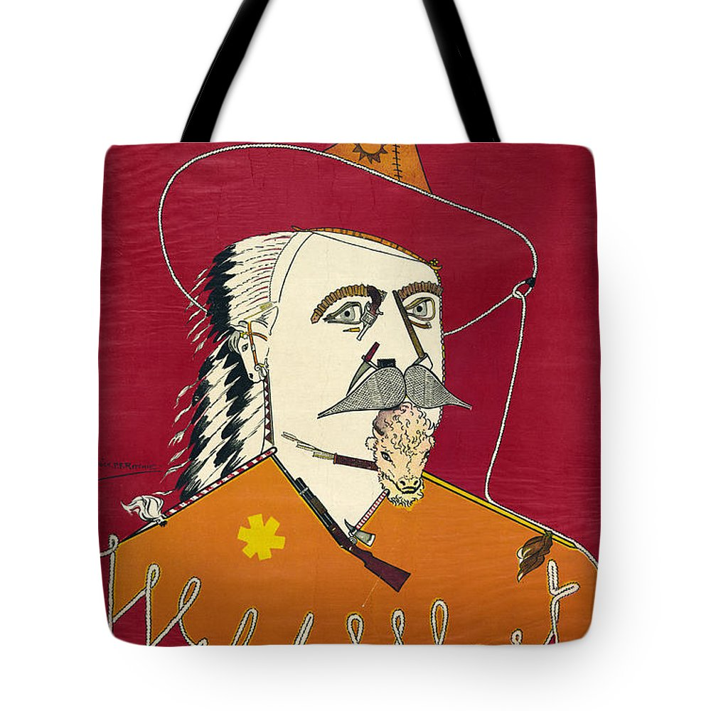 1890 Tote Bag featuring the photograph William F. Cody (1846-1917) by Granger
