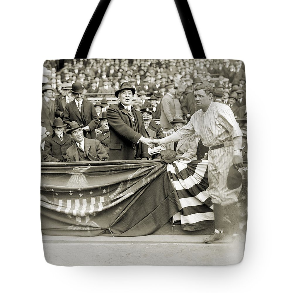 1923 Tote Bag featuring the photograph George H. Ruth (1895-1948) by Granger