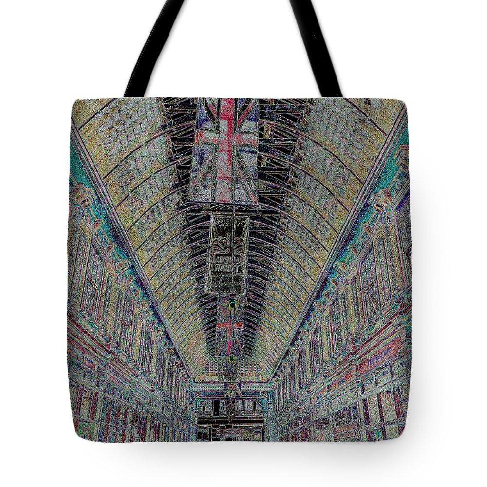 Leadenhall Market Tote Bag featuring the digital art Leadenhall Market London by David Pyatt