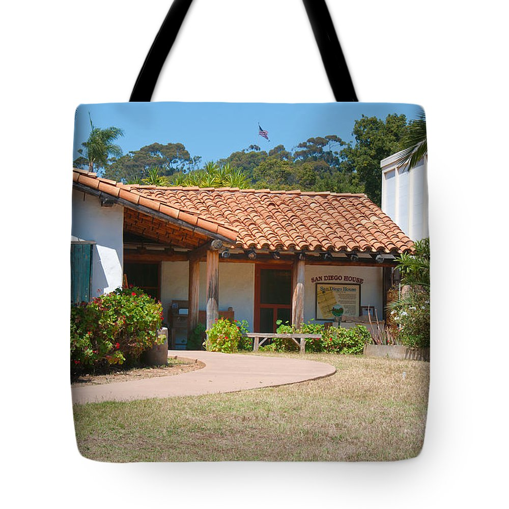 California Tote Bag featuring the digital art Old Town San Diego by Carol Ailles