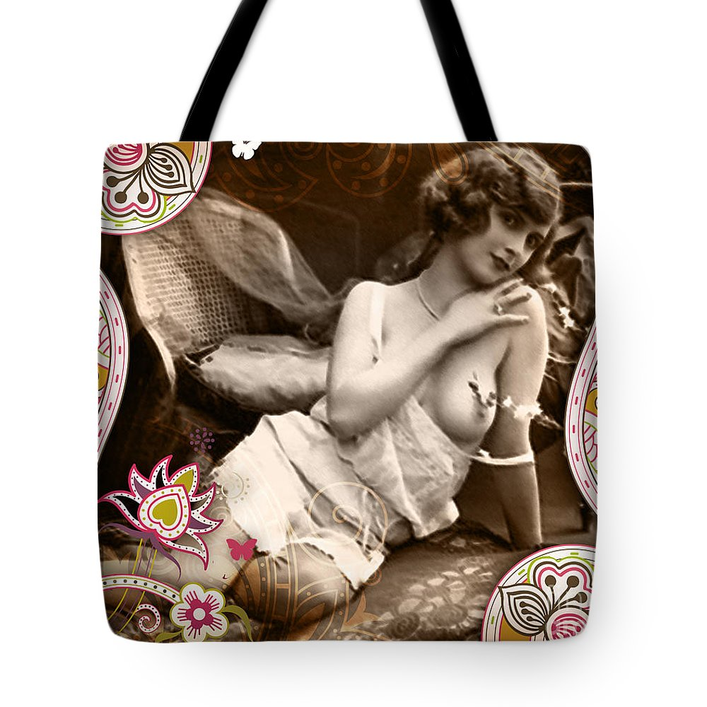 Nostalgic Seduction Tote Bag featuring the photograph Goddess by Chris Andruskiewicz