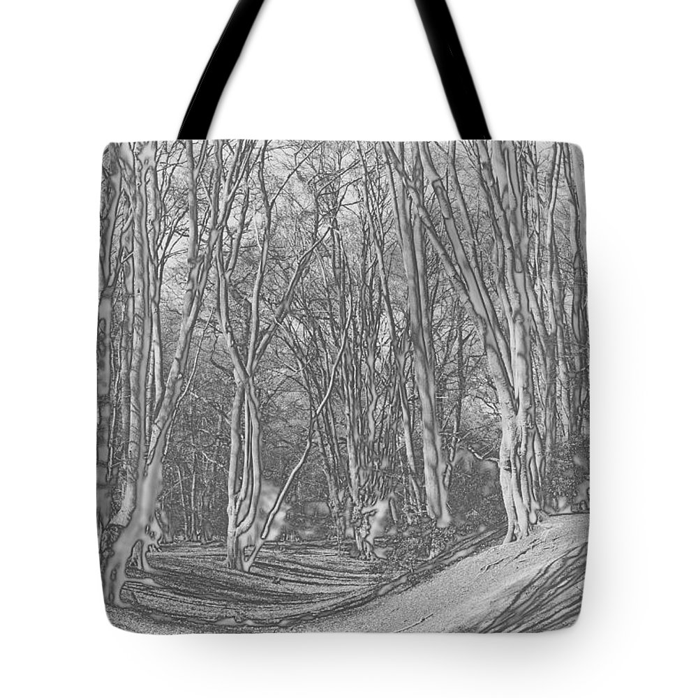 Fort Tote Bag featuring the digital art Ambresbury Banks by David Pyatt