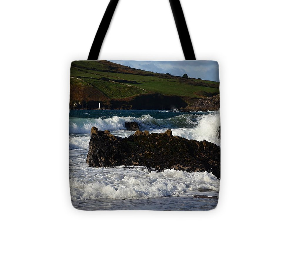 Waves Tote Bag featuring the photograph Beenbane Beach by Barbara Walsh